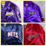 Chaquetas NBA Hardwood Classics. Los Angeles Lakers, Toronto Raptors, New Jersey Nets, Chicago Bulls. Detalle bordado pecho