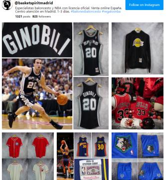 Basketspirit Instagram. Venta online Baloncesto y NBA España